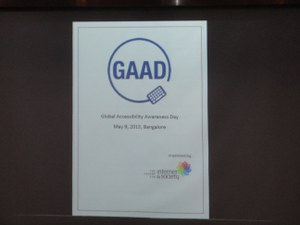 Global Accessibility Awareness Day (GAAD 2013) - CIS panel