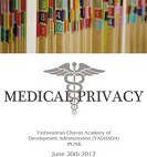 Privacy Matters — Medical Privacy