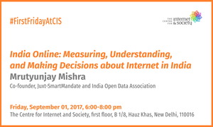 Mrutyunjay Mishra - India Online: Measuring, Understanding, and Making Decisions about Internet in India (Delhi, September 01, 6 pm)