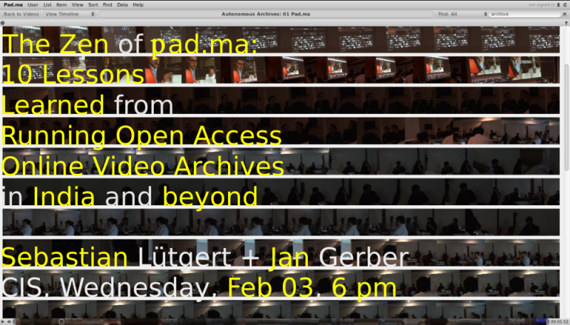 The Zen of Pad.ma: 10 Lessons Learned from Running Open Access Online Video Archives in India and beyond